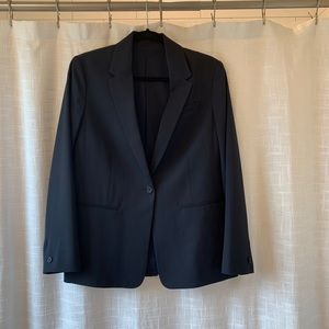 Everlane Italian goweave classic navy blazer